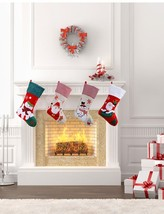 18Inch Santa Claus Stocking Candy Gift Bag Christmas Hanging Decoration ... - $16.99+