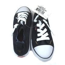 Levis Black Denum Sneakers Girls Size 13 New w/ Tags in Box - $18.99