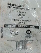 Nibco Press System PC633 3 Union 3/4 Inch Press X Female Quantity 5 Per Bag image 2