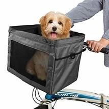 SNDMOR Pet Bike Basket Bag-Dog Bike Basket Carrier-Pet Bicycle Front Car... - $55.05