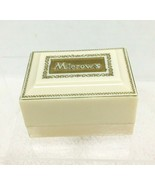 Vintage Mierow's Tacoma Jeweler's Ring Box Cream Hard Plastic w/ Gold - $34.16