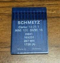 SCHMETZ DBX1 287 WH CANU:14:25 1 NM:100 SIZE16 INDUSTRIAL SEWING MACHINE... - $20.06