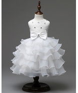 Strapless White Floral Pricess Flower Girls Dresses O Bridesmaid Party G... - $33.00