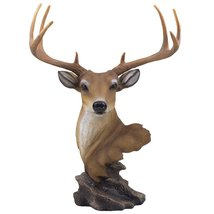 Decorative Buck Bust Statue or Deer Head Sculpture with 8-point Antlers ... - £27.54 GBP