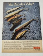 1975 Rapala Fishing Lure Magazine Original Print Ad Advertisement  - $16.81
