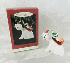 Hallmark Christmas Ornament - Polar Coaster - 1995 Penguin Polar Bear - $14.84