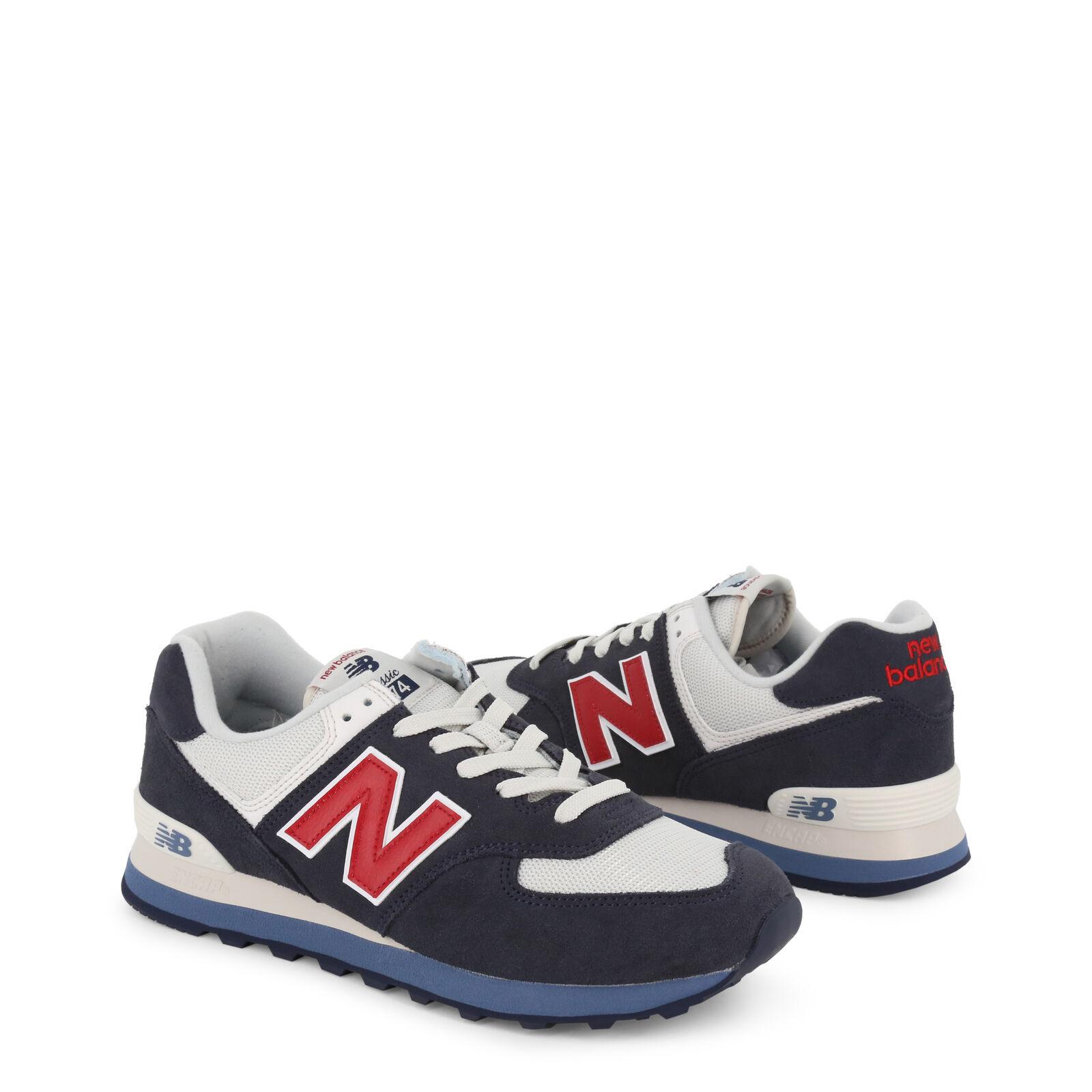 New Balance 574 Series Herren Schuhe Rot/Schwarz/Blau/Grau Suede Sneakers