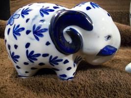 Delft Blue & White - 3 piece - Elephant Bank - Cat - Owl Bank Lot # 596 - $11.00