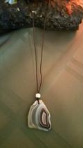 Natural Banded Agate Necklace Healing  Reiki, Meditation  Men women Vale... - $9.89