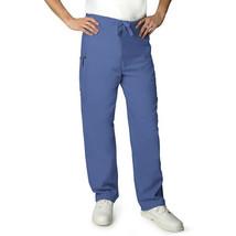 Scrub Pants Ceil Blue Adar 504 Drawstring Waist Large Uniform Bottom Uni... - $19.37