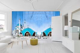 3D Der berühmte Blaue Tempel Fototapeten Wandbild Fototapete BildTapete Familie - $51.18+