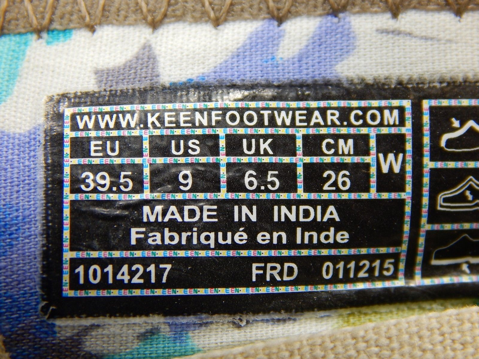 Keen Sienna Mary Jane Size 9 M (B) EU 39.5 Women's Canvas Shoe Brindle 1014217