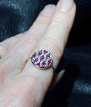 Ruby Diamond Ring, 18K White  Gold, Vintage - $950.00