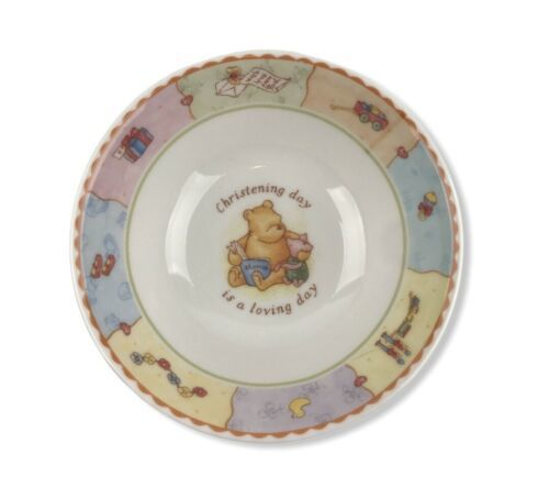 Winnie The Pooh Bowl Christening Collection By Royal Doulton 2001 Disney - $27.40