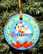 Disney's Parks Exclusive Mickey Mouse Season Greetings (1997) Christmas ... - $12.38