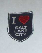 """I Love Salt Lake City"" Utah Clothing Iron Patch - $7.87"
