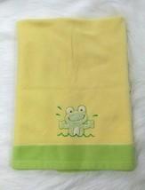 Blankets & Beyond Frog Baby Blanket Green Yellow Fleece 30x36 Boy Girl B416 - $24.99