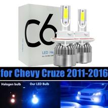 2x 8000K Ice Blue LED High/Low Headlight Kit Bulb for Chevy Cruze 2011-2016 - $13.91