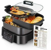 Pot Of Slow Cooker, Grill And vaporera.3 On 1,1250W,Multifunction,Progra... - $277.83