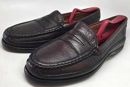 Johnston & Murphy Men Oxblood Leather Penny Loafers Size 10 M  #20-8852... - $44.55