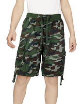 Boys Elastic Waist Drawstring Multi Pocket Cotton Toddler Kids Cargo Shorts image 10