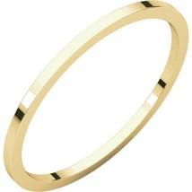 Fine 10k Yellow Gold 1 mm High Polished Flat Wedding Band Ring Size 3-16 - $34.65+