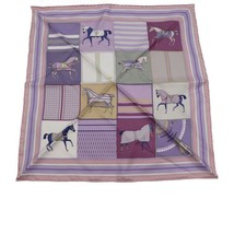 Hermes Carre 45 scarf silk pink purple Ladies Auth - $374.20
