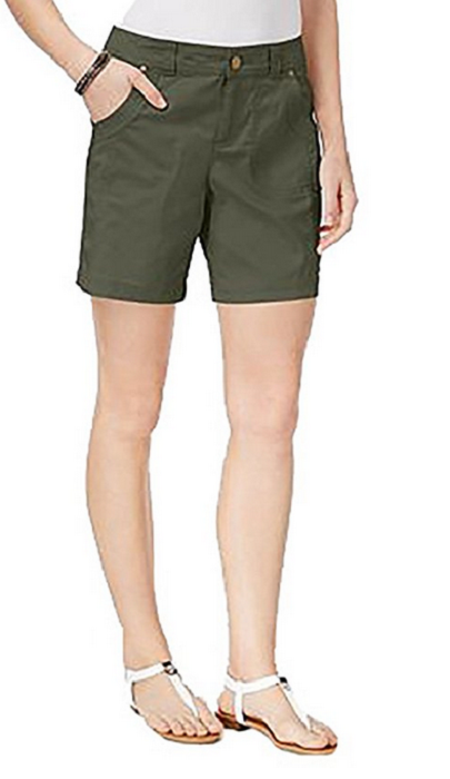 Primary image for Style & Co Slim-Fit Shorts, Olive Sprig, Size 8, MSRP $46