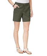Style & Co Slim-Fit Shorts, Olive Sprig, Size 8, MSRP $46 - $21.77