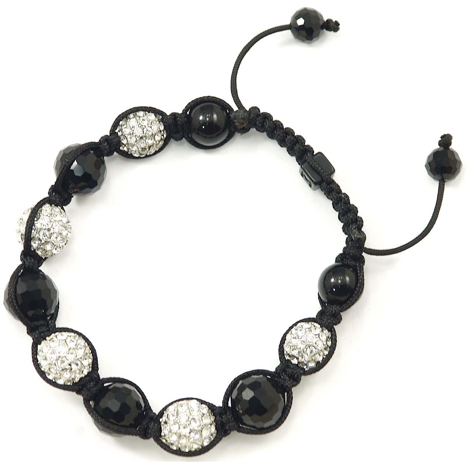 Primary image for Crystal Ball Shamballa New Buddhist Adjustable Macrame Bracelet 1277