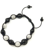 Crystal Ball Shamballa New Buddhist Adjustable Macrame Bracelet 1277 - $29.99