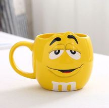 Yellow M&M Bean Large Capacity Coffee Mugs Tea Milk Cups Drinkware 500ML - $37.97