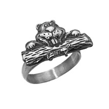 North American Canada beaver no place like home Log 925 Sterling Silver ... - $34.14