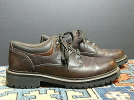 Men's Timberland Brown Oiled Leather Oxford Sz 8M Excellent! - $25.84