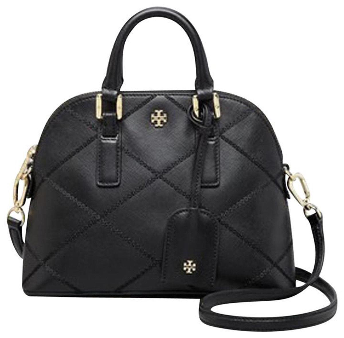 NWT Tory Burch Black Saffiano Mini Robinson Stitched Dome Cross Body Bag  - $425 image 5
