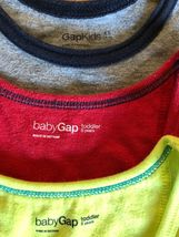 BABY GAP Tank Top + Knit Pull On Shorts Lot of 6 - Summer Outfits Blue Gray Red image 8