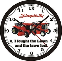 """Simplicity """"I Fought The Lawn"""" Wall CLOCK-FREE Us Ship - $26.72+"""