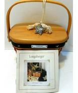 Longaberger 2001 Inaugural Basket, Liner, protector, emblem & booklet se... - $29.01