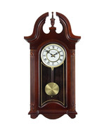 Bedford Clock Collection 26.5 Inch Chiming Pendulum Wall Clock in Coloni... - $138.51