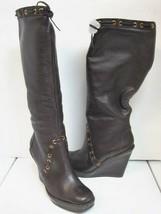 $455 Michael Kors Fall Dark Coffee Brown Knee High Leather Boot 9 1/2 - $119.99