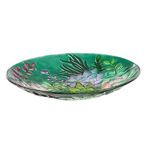 "Goose Creek 18"" Glass Bird Bath Bowl, Succulent - $69.16"