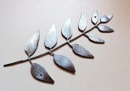 "Olive Leaf Branch  12"" Wide Metal Wall Art Decor Silver - $13.99"