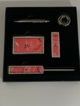 Mary Kay Pink & Silver Compact Mirror, Lipstick Case, Letter Opener, Pen... - $64.35