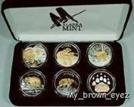 Alaska Mint 6- BEAR SET Gold & Silver Medallion Proof - $722.69