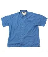 The North Face Hombre con Botones Camisa Manga Corta Ventilado Azul de C... - $22.14