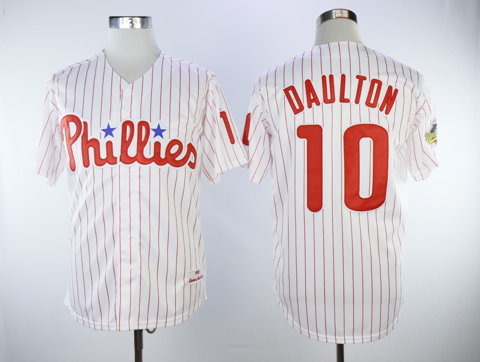 6300c4f8 ... cheap philadelphia phillies men s cool base player 10 darren daulton  jersey white red 6bbd2 53040 ...