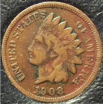 1908 Indian Head Cent VG Partial Liberty #0943 - $2.49