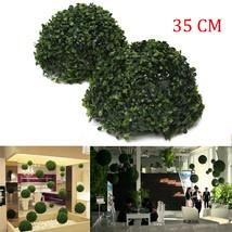 35cm Plastic Artificial Topiary Grass Ball Leaf Effect Ball Wedding Gard... - $18.37