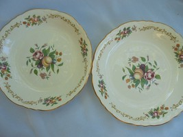 Homer Laughlin Plate, soup bowl, Shabby Rose Fl... - $8.19