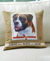 BOXER DOG Super Soft THROW PILLOW Home is Just a House Sofa Bed Decor - $13.58